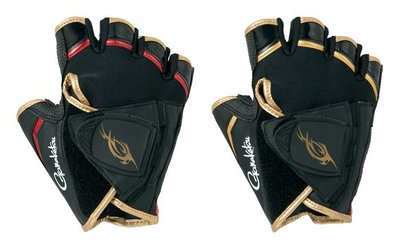 【NINA釣具】gamakatsu GM-7257 五指手套 附磁版 黑紅色 L
