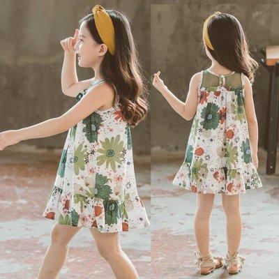 【蘑菇小隊】女童洋裝夏女童裙子寶寶純棉背心裙中大童透氣洋氣童裙公主裙 rj85【棉花糖伊人】-MG47739