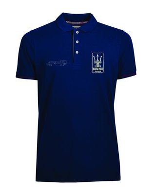 Maserati 瑪莎拉蒂經典藍Polo衫