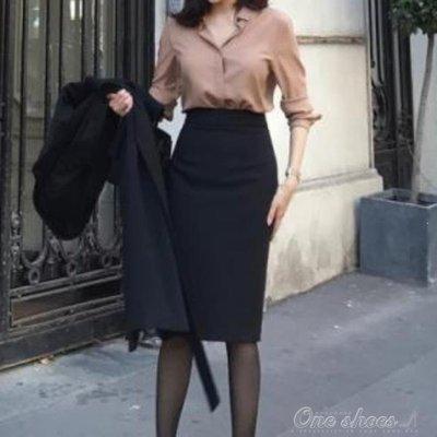 ZIHOPE 包臀裙 春秋新款半身裙彈力包臀裙修身顯瘦高腰一步裙中長款OL職業裙包裙ZI812