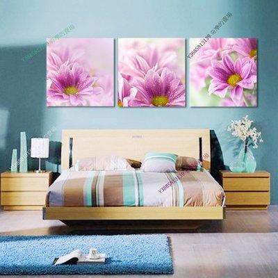 【30*30cm】【厚0.9cm】粉紅花-無框畫裝飾畫版畫客廳簡約家居餐廳臥室牆壁【280101_368】(1套價格)