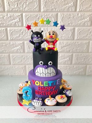【Connie's Home Sweets】 細菌小子 麵包超人生日蛋糕 Anpanman Cake 100 days cake birthday cake