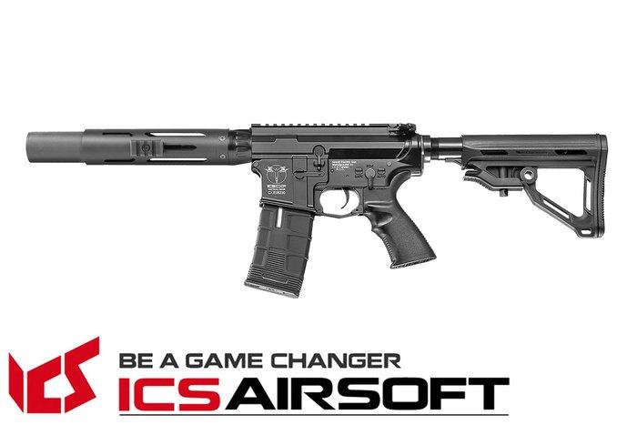 【翔準軍品AOG】ICS CXP-HOG 圓管護木短版 SD(黑)MTR托 EBB Keymod M-Lok 全金屬