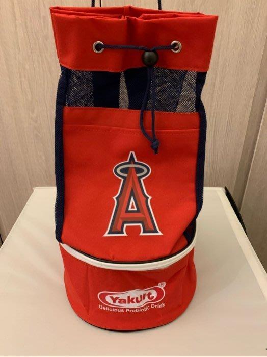 天使隊  後背包 保溫盒 看球賽的贈品   下層為保溫層