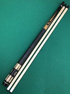 全新仿大紹 Southwest(SW) 黑檀木雕刻鑲嵌鳥眼楓木 經典扁鑽圖案 球桿 中輪21mm