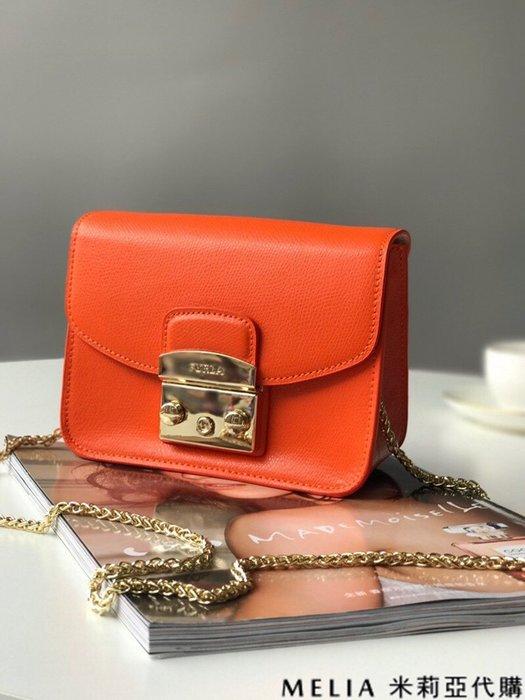 Melia 米莉亞代購 商城特價 數量有限 每日更新 FURLA 經典小方 淑女包 單肩斜背包 素色來襲 橙色