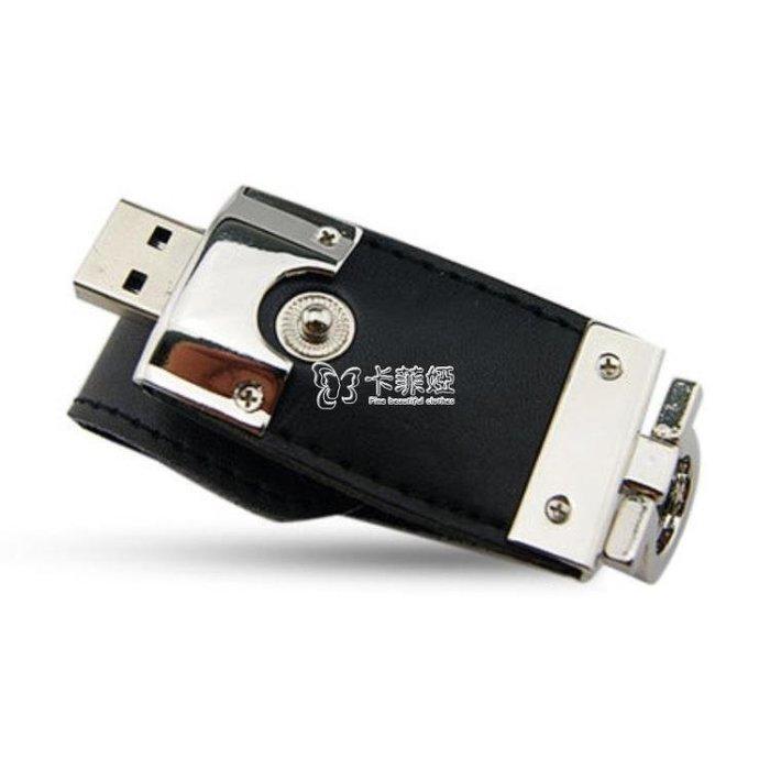 隨身碟 皮革USB閃存驅動器 隨身碟Pendrive閃盤閃卡貼內存閃存盤