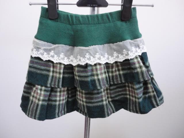 99元起標~Boo Mart~女童~格子短裙~綠色~SIZE:9