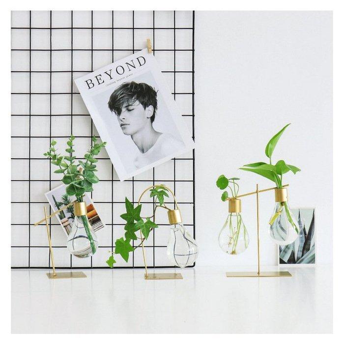 北歐創意燈泡玻璃花瓶 居家客廳餐桌水培植物裝飾(B款/C款(兩款擇一))_☆優購好SoGood☆