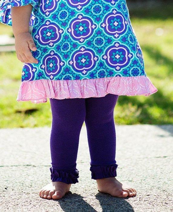 ❤Shopaholic❤美國RuffleButts 冬季暖暖女童褲襪 艷麗紫 現貨