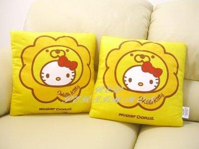 紅柿子【mister Donut & Hello Kitty 靠枕.SANRIO 三麗鷗台灣地區限定】全新.