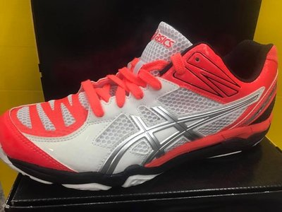 ASICS亞瑟士 男  GEL-V SWIFT CV LO 室內鞋 排球鞋 羽球鞋 TVR485-0693 白粉橘 現貨 台北市