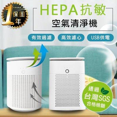 免運+24H出貨【USB抗敏HEPA空...
