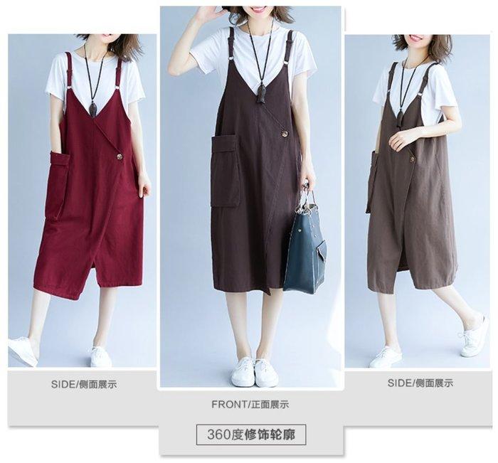 貓姐的團購中心~有中大碼~大口袋寬鬆休閒牛仔吊帶裙~3種顏色~M-2XL一件520元~預購款