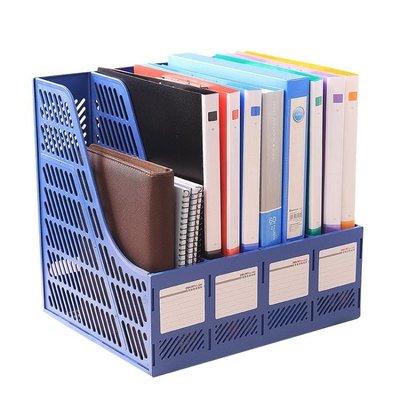 得力文件架辦公用品文件框夾欄桌面收納資料架置物書立架子YS