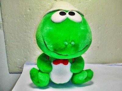 L.(企業寶寶玩偶娃娃)全新少見Standard Chartered渣打銀行綠色青蛙絨布娃娃!--值得收藏!