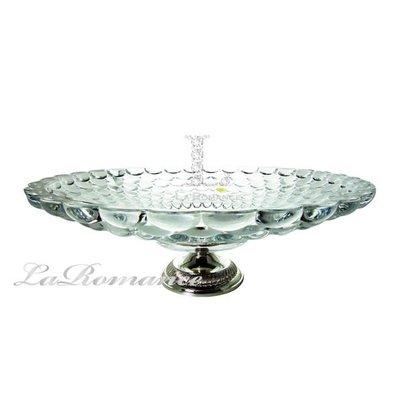 【芮洛蔓 La Romance】奢華鍍銀水晶泡泡果盤 (大)  / 餐具