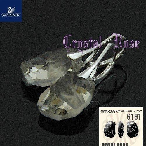 ※水晶玫瑰※ SWAROVSKI 天瑩水晶吊墜 進口耳勾耳環(DC117)~5色可選