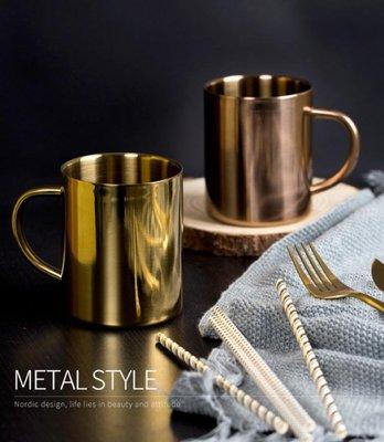 304雙層不鏽鋼杯【NT071】400ML不鏽鋼馬克杯 啤酒杯/不銹鋼杯/露營杯/環保杯辦公室用