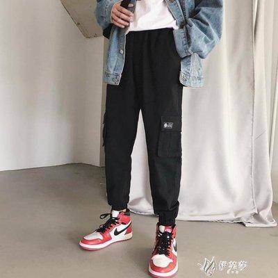 【蘑菇小隊】工裝褲港味復古褲子超火的束腳休閒h加絨工裝褲女寬鬆bf風-MG42198