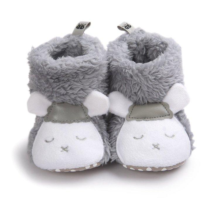 森林寶貝屋~灰小羊造型雪鞋~學步鞋~保暖鞋~寶寶鞋~黏扣鞋~童鞋~學走鞋~保暖舒適~彌月贈禮~特價1雙135元