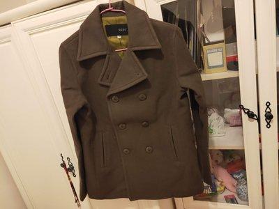 9.5成新   OZOC~~ 墨綠色 經典必備棉質西裝 短外套(38號)直購價400含運費