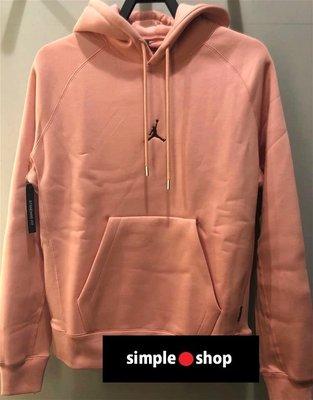 【Simple Shop】NIKE JORDAN 飛人 刺繡 帽T 重磅 刷毛 喬丹 連帽長袖 粉 CD8727-606
