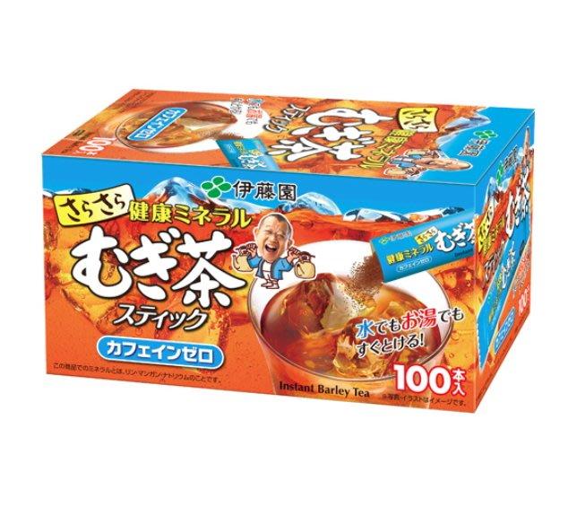 《FOS》日本製 伊藤園 麥茶粉 隨身包(100包) 茶粉 茶包 麥茶 夏天 消暑 養生 健康 飲料 團購 熱銷 新款