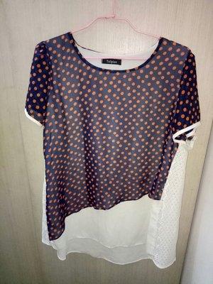 品牌tulipian瓊安專櫃買雪紡紗xL size(肩15胸2.長28袖7(485花)9成新