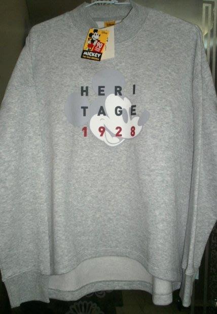 Net◎全新◎有吊牌◎米奇男女(XL) 長袖下擺前短後長針織休閒風T恤 / 休閒衫 /上衣◎一件350元.