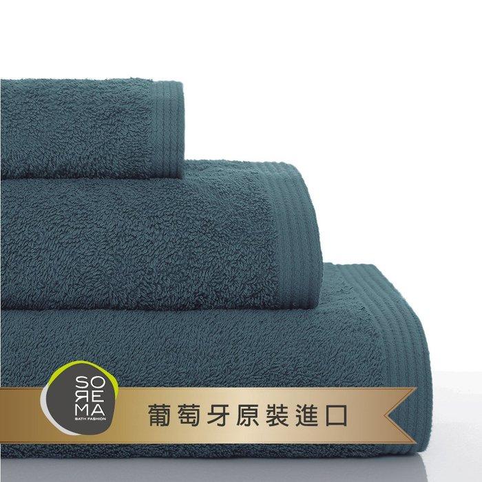 【Sorema 舒蕾馬】原色精緻毛巾 70x140cm 南歐陽光明星品牌(工業藍 DEEP BALTIC)