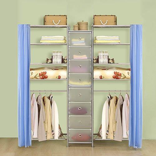 【中華批發網DIY家具】D-62D-01-W5型60+pp+W5型60衣櫥置物櫃-(前罩)不織布