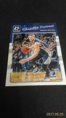 2016-17 DONRUSS OPTIC~Chandler Parsons 金屬普卡 # 31