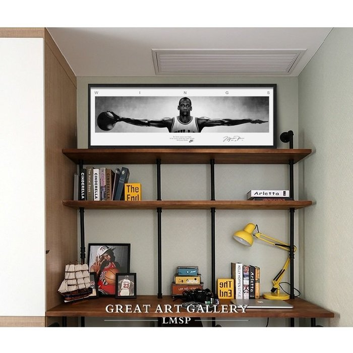 日本製畫布 白橡實木框 NBA 喬丹 Jordan 柯比 Kobe 詹姆士 James 杜蘭特 Durant 展開雙臂#