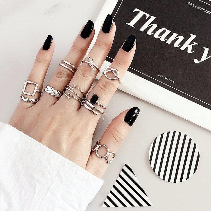 乾一s925純銀戒指女士日韓簡約潮人生日復古寬夸張韓國個性開口食指環