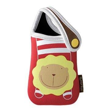 《創意達人》奶油獅手提式手機袋/手機套,潛水布材質,生日派對畢業禮物