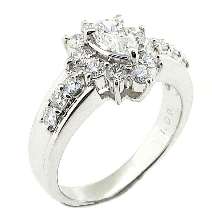 【JHT 金宏總珠寶/GIA鑽石專賣】1.09ct天然鑽石戒指/材質:PT900(JB41-B08)