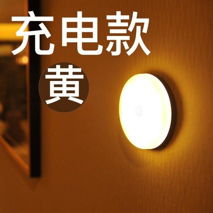 小夜燈泡led充電樓道節能光控聲控過道衣柜吸頂走廊人體感應自動小夜燈