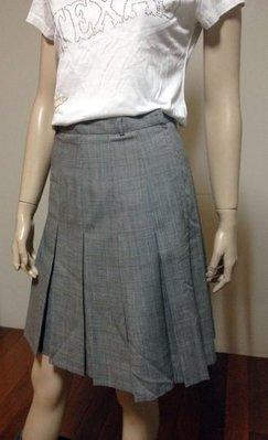*1/2美人魚*出清 黛安娜 義大利素材 設計師款 26號 千鳥格 12片裙 100%羊毛 388元起標
