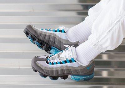 NIKE AIR VAPORMAX 95 灰藍 漸層 大氣墊 運動休閒 慢跑鞋 男鞋 AJ7292 002 YTS