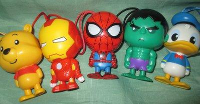 7-11迪士尼玩具總動員 小熊維尼 唐老鴨 浩克 鋼鐵人 .蜘蛛人 超級聯盟單賣區~單賣1款~可挑款~
