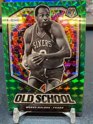 2019-20 Mosaic Old School Green Moses Malone