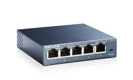 【鳥鵬電腦】TP-LINK TL-SG105 5埠 專業級Gigabit 交換器 鐵殼 5PORT HUB 集線器