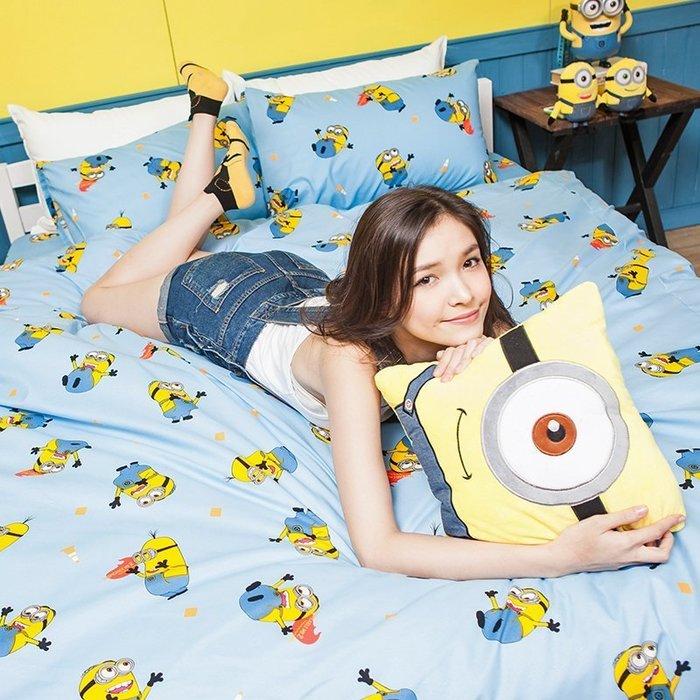 床包被套組 / 雙人【小小兵全速前進】含兩件枕套  迪士尼授權  高密度磨毛布  戀家小舖台灣製ABF212