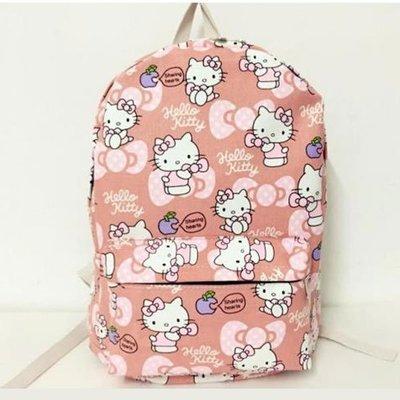 生日禮物  優惠499-凱蒂貓 HELLO KITTY 帆布 雙肩書包 側背包 日常包包 TI45☆~啦啦小舖~☆