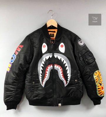 [FDOF] BAPE SHARK MA1 黑色鯊魚MA1外套 高磅 日本公司貨