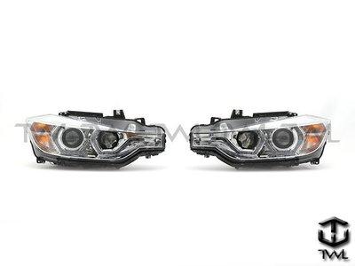 《※台灣之光※》全新BMW14 15 16 12 13年 F30 328美規鹵素升級晶鑽LED雙光版光圈投射大燈組