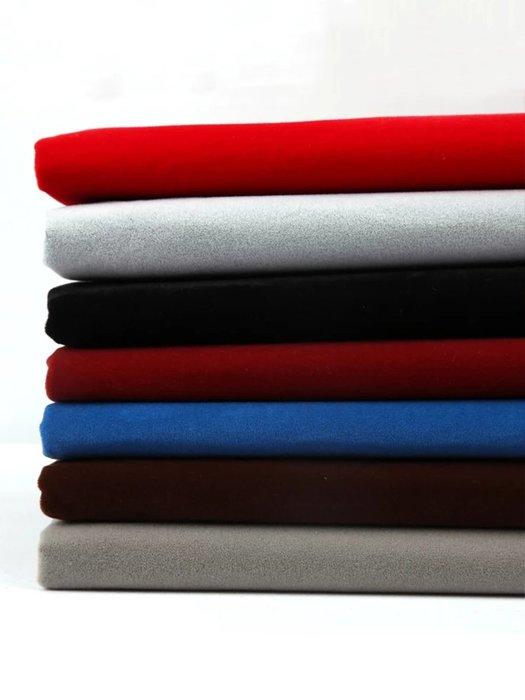 新款 桌布 純棉 韓版背膠絨布 自粘布植絨布柜臺抽屜首飾加厚黑色不干膠帶膠 絨布布料