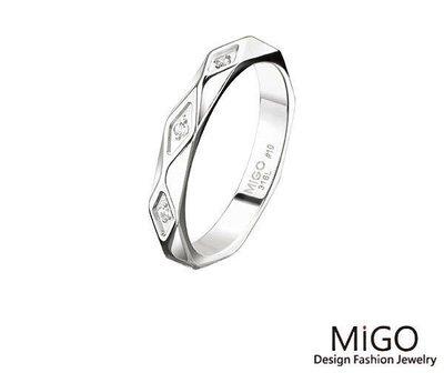 (Hueibe Shop)高質感米格Migo鋼飾青春白鋼女戒 SR714-10