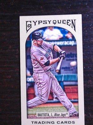 2011 Gypsy Queen 藍鳥隊全壘打王 Jose Bautista 超美Mini畫卡~~難拆